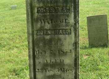 HALL, MARY A. - Delaware County, Ohio | MARY A. HALL - Ohio Gravestone Photos