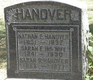 HANOVER, SARAH E. - Delaware County, Ohio | SARAH E. HANOVER - Ohio Gravestone Photos