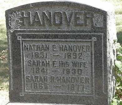 HANOVER, NATHAN E. - Delaware County, Ohio | NATHAN E. HANOVER - Ohio Gravestone Photos