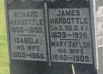 HARBOTTLE, JAMES - Delaware County, Ohio | JAMES HARBOTTLE - Ohio Gravestone Photos