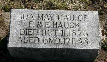 HAUCK, IDA MAY - Delaware County, Ohio | IDA MAY HAUCK - Ohio Gravestone Photos