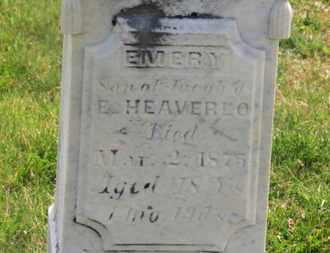 HEAVERLO, EMERY - Delaware County, Ohio | EMERY HEAVERLO - Ohio Gravestone Photos