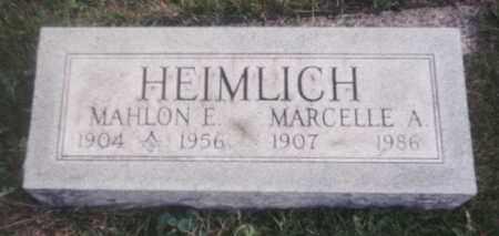 HEIMLICH, MARCELLE ADELAIDE - Delaware County, Ohio | MARCELLE ADELAIDE HEIMLICH - Ohio Gravestone Photos