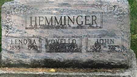 HEMMINGER, JOHN - Delaware County, Ohio | JOHN HEMMINGER - Ohio Gravestone Photos