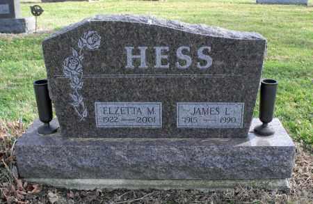 HESS, ELZETTA MAXINE - Delaware County, Ohio   ELZETTA MAXINE HESS - Ohio Gravestone Photos
