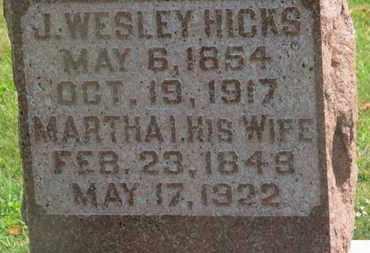 HICKS, MARTHA I. - Delaware County, Ohio | MARTHA I. HICKS - Ohio Gravestone Photos