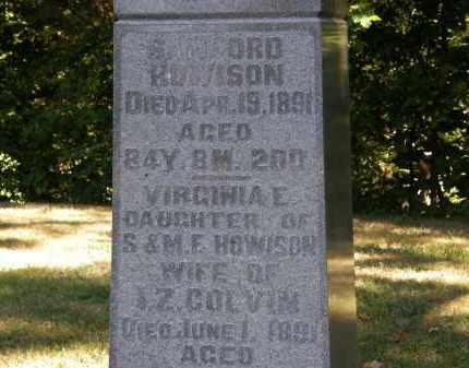 COLVIN, I.Z. - Delaware County, Ohio   I.Z. COLVIN - Ohio Gravestone Photos