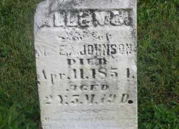 JOHNSON, E. A. - Delaware County, Ohio | E. A. JOHNSON - Ohio Gravestone Photos