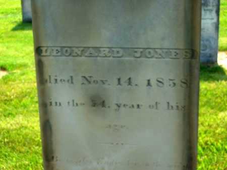 JONES, LEONARD - Delaware County, Ohio   LEONARD JONES - Ohio Gravestone Photos