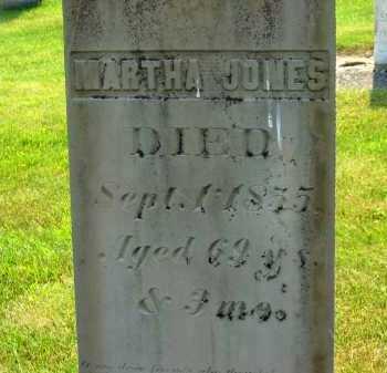 JONES, MARTHA - Delaware County, Ohio   MARTHA JONES - Ohio Gravestone Photos