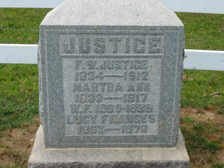 JUSTICE, LUCY FRANCES - Delaware County, Ohio | LUCY FRANCES JUSTICE - Ohio Gravestone Photos
