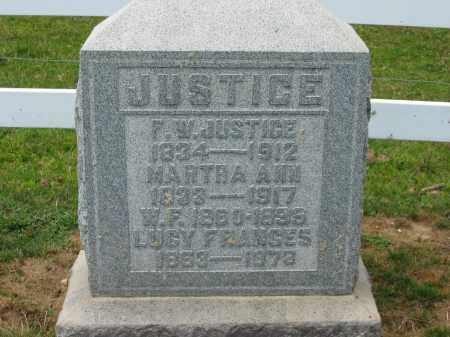 JUSTICE, F.W. - Delaware County, Ohio | F.W. JUSTICE - Ohio Gravestone Photos