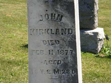 KIRKLAND, JOHN - Delaware County, Ohio   JOHN KIRKLAND - Ohio Gravestone Photos
