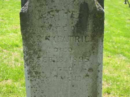 KIRKPATRIC, ESTHER - Delaware County, Ohio | ESTHER KIRKPATRIC - Ohio Gravestone Photos