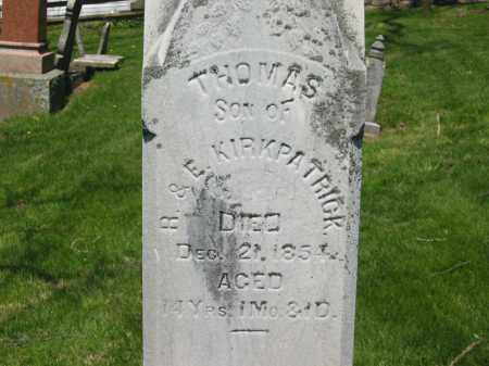 KIRKPATRICK, THOMAS - Delaware County, Ohio | THOMAS KIRKPATRICK - Ohio Gravestone Photos