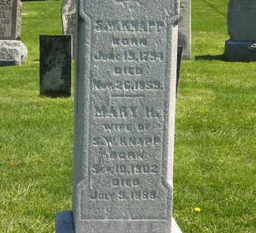 KNAPP, MARY H. - Delaware County, Ohio   MARY H. KNAPP - Ohio Gravestone Photos