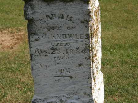 KNOWLES, SARAH - Delaware County, Ohio | SARAH KNOWLES - Ohio Gravestone Photos
