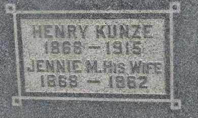 KUNZE, JENNIE M. - Delaware County, Ohio   JENNIE M. KUNZE - Ohio Gravestone Photos