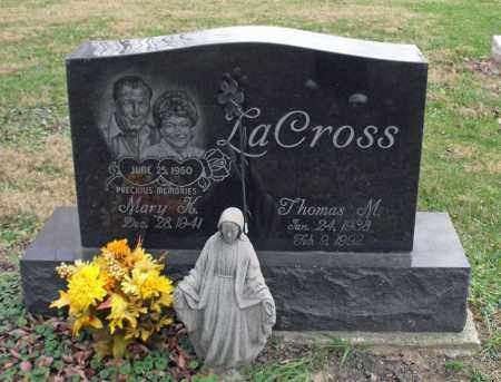 LACROSS, THOMAS M. - Delaware County, Ohio   THOMAS M. LACROSS - Ohio Gravestone Photos