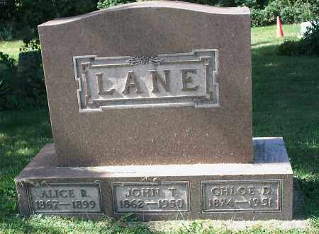 LANE, ALICE R. - Delaware County, Ohio | ALICE R. LANE - Ohio Gravestone Photos
