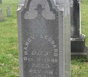 LEONARD, NANCY - Delaware County, Ohio | NANCY LEONARD - Ohio Gravestone Photos