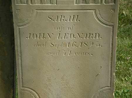 LEONARD, SARAH - Delaware County, Ohio   SARAH LEONARD - Ohio Gravestone Photos