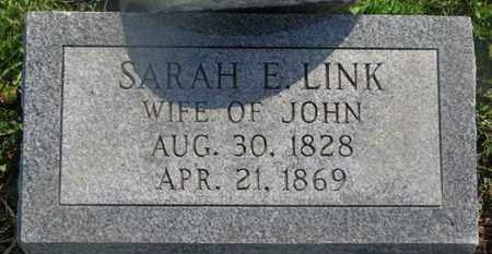 LINK, SARAH E. - Delaware County, Ohio | SARAH E. LINK - Ohio Gravestone Photos