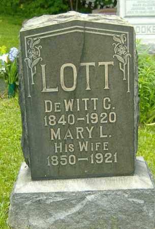 LOTT, DEWITT C. - Delaware County, Ohio | DEWITT C. LOTT - Ohio Gravestone Photos