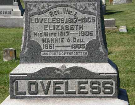 LOVELESS, ELIZABETH - Delaware County, Ohio | ELIZABETH LOVELESS - Ohio Gravestone Photos