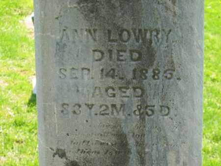 LOWRY, ANN - Delaware County, Ohio | ANN LOWRY - Ohio Gravestone Photos