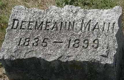MAIN, DEEMEANN - Delaware County, Ohio | DEEMEANN MAIN - Ohio Gravestone Photos