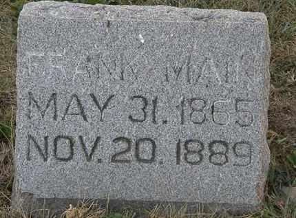 MAIN, FRANK - Delaware County, Ohio | FRANK MAIN - Ohio Gravestone Photos