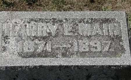 MAIN, HARRY E. - Delaware County, Ohio   HARRY E. MAIN - Ohio Gravestone Photos