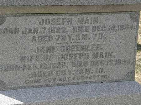 MAIN, JANE GREENLEE - Delaware County, Ohio | JANE GREENLEE MAIN - Ohio Gravestone Photos