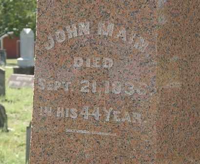 MAIN, JOHN - Delaware County, Ohio | JOHN MAIN - Ohio Gravestone Photos