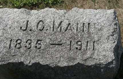 MAIN, J.C. - Delaware County, Ohio | J.C. MAIN - Ohio Gravestone Photos