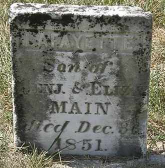 MAIN, BENJ. - Delaware County, Ohio | BENJ. MAIN - Ohio Gravestone Photos