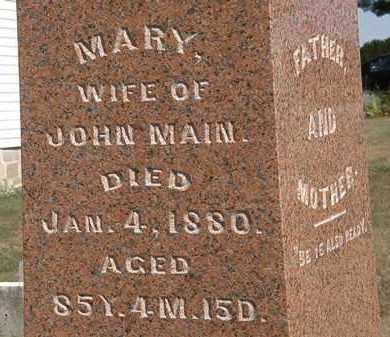 MAIN, MARY - Delaware County, Ohio | MARY MAIN - Ohio Gravestone Photos