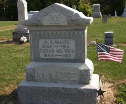 MAIZE, A.A. - Delaware County, Ohio | A.A. MAIZE - Ohio Gravestone Photos