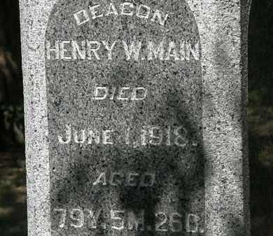 MANN, HENRY W. - Delaware County, Ohio | HENRY W. MANN - Ohio Gravestone Photos