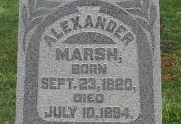MARSH, ALEXANDER - Delaware County, Ohio | ALEXANDER MARSH - Ohio Gravestone Photos