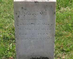 MCMASTER, MARY E. - Delaware County, Ohio | MARY E. MCMASTER - Ohio Gravestone Photos