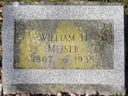 MEISER, WILLIAM H. - Delaware County, Ohio   WILLIAM H. MEISER - Ohio Gravestone Photos