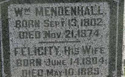 MENDENHALL, WM. - Delaware County, Ohio | WM. MENDENHALL - Ohio Gravestone Photos