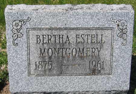 MONTGOMERY, BERTHA ESTELL - Delaware County, Ohio | BERTHA ESTELL MONTGOMERY - Ohio Gravestone Photos