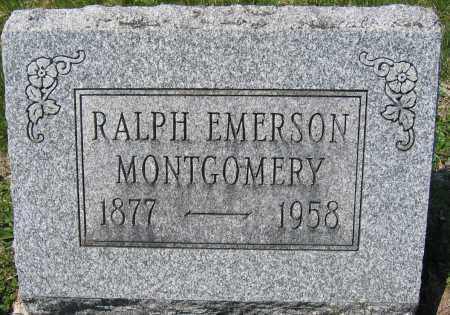 MONTGOMERY, RALPH EMERSON - Delaware County, Ohio | RALPH EMERSON MONTGOMERY - Ohio Gravestone Photos