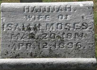 MOSES, HANNAH - Delaware County, Ohio   HANNAH MOSES - Ohio Gravestone Photos