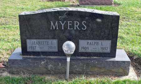 MYERS, JEANETTE IRENE - Delaware County, Ohio | JEANETTE IRENE MYERS - Ohio Gravestone Photos