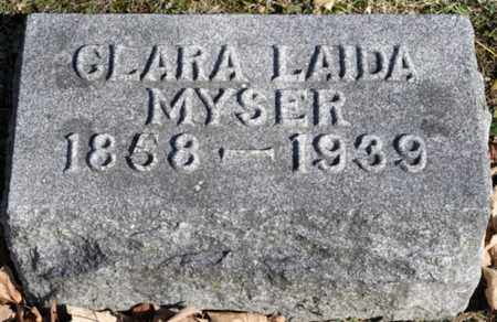MYSER, CLARA LAIDA - Delaware County, Ohio   CLARA LAIDA MYSER - Ohio Gravestone Photos