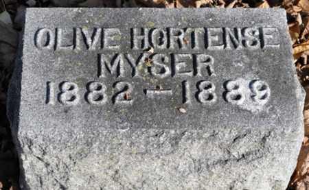 MYSER, OLIVE HORTENSE - Delaware County, Ohio | OLIVE HORTENSE MYSER - Ohio Gravestone Photos